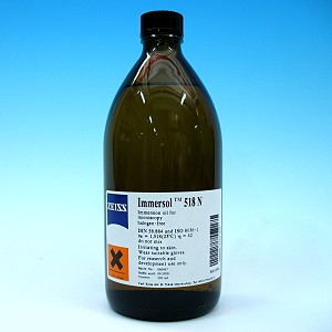 Immersion oil Immersol 518 N, bottle 500 ml