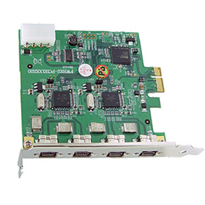 Dual Chip FireWire PCIe Karte 4x1394b FW800 (O)