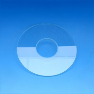 Stage insert, glass; D=110 mm, d=38 mm