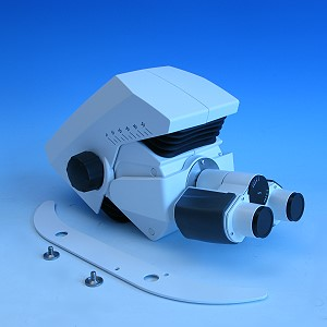Binokularer Komfort-Ergotubus 8-33°/22, 50mm Höhe, umgekehrtes Bild
