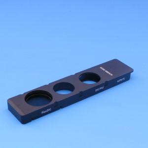 Kontrastschieber 3-fach 10x29 mm für PlasDIC-Modul und Analysator