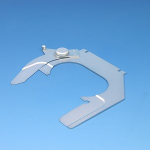 Specimen holder for slide 76x26 mm for one-hand operation