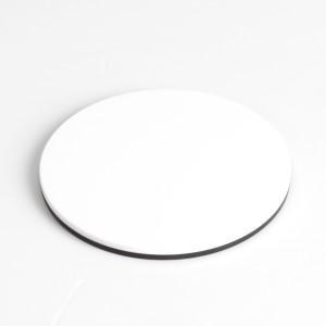 Plastic Plate B/W D=84x5 mm