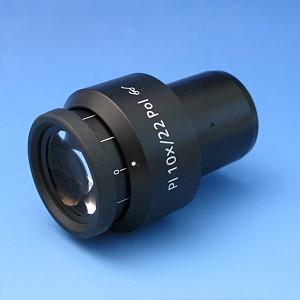 Eyepiece PL 10x/22 Br. foc. Pol with crossline graticule