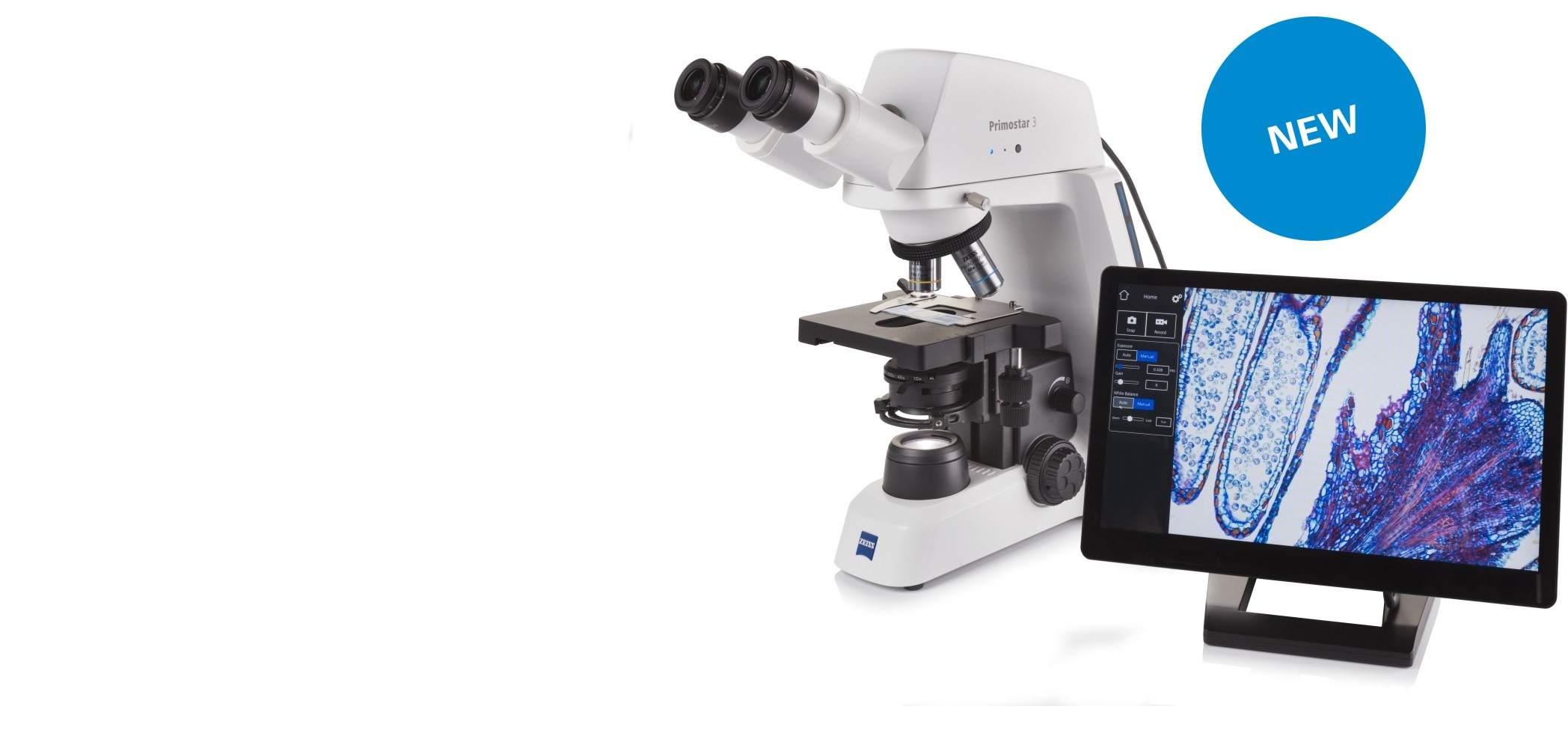 Your robust, yet compact microscope for digital teaching and routine lab work.